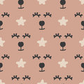 Repeated abstract animal`s faces and stars. Funny seamless pattern for children.