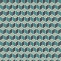 Repeated blue color cubes background. Geometric shapes wallpaper. Seamless surface pattern design with polygons Royalty Free Stock Photo