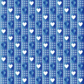 Repeated blue hearts Stock Photography