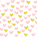 Repeated hearts. Drawn by hand. Romantic seamless pattern. Royalty Free Stock Photo