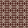 Repeated outline squares and brackets on white background. Symmetric geometric surface pattern design wallpaper.