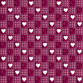 Repeated purple hearts Stock Photo