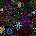 Repeating dark christmas pattern Stock Photos