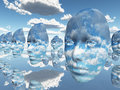 Repeating faces of clouds Royalty Free Stock Photo