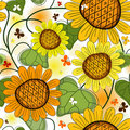 Repeating floral white summer pattern Royalty Free Stock Photo