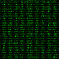 Repeating hexadecimal background green computer code wallpaper Royalty Free Stock Photo