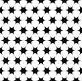 Repeating monochrome star pattern