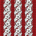 Repeating pattern classic hawaiian hibiscus Royalty Free Stock Image
