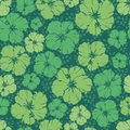 Repeating pattern of  hibiscus flower. Royalty Free Stock Photo
