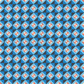 Repeating pattern orange blue seamless geometric form vector graphics Stock Images