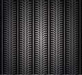 Repeating tire tracks Royalty Free Stock Photos