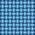 Repeating wicker weave style background blue format illustration Stock Image