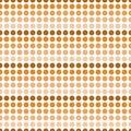 Repetição alaranjada e branca de dot abstract design tile pattern da polca Imagens de Stock