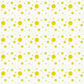 Repetición amarilla y blanca de dot abstract design tile pattern de la polca Fotografía de archivo libre de regalías