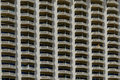 Repetitive balconies Royalty Free Stock Photo