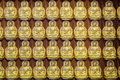 Repetitive buddha chinese religion Stock Photo