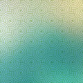 Repetitive geometric vector curvy waves pattern texture on blurred background graphic illustration template Royalty Free Stock Photography
