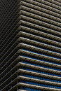 Repetitive horizontal louvers exterior facade with multiple and windows Royalty Free Stock Photography