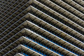Repetitive horizontal louvers exterior facade with multiple and windows Stock Photography