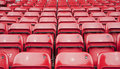 Repetitive pattern of football stadium seating Royalty Free Stock Photos
