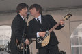 Replay the beatles lennon mccarthney duo recreated on stage by impersonator Stock Photos