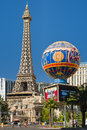 Replica of eiffel tower in las vegas may on may this is the biggest copy the and its height is meters Stock Image