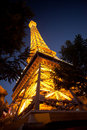 Replica of Eiffel Tower at the Paris Hotel Stock Image