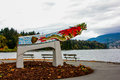Replica of the empress of japan figurehead in vancouver s stanley park Stock Image