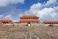 Replica of Forbidden City pavilion, Hengdian, China Royalty Free Stock Photo