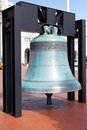 Replica freedom bell in front of Union Station Stock Photography