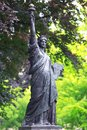 Replica of statue liberty luxembourg garden paris Royalty Free Stock Images