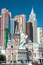 Replica of the statue of liberty in new york new york on the las vegas strip Royalty Free Stock Photography