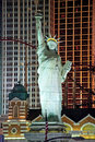 Replica of the statue of liberty in new york new york on the las vegas strip at night Royalty Free Stock Photos