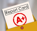 Report Card A+ Plus Top Grade Rating Review Evaluation Score Royalty Free Stock Photo