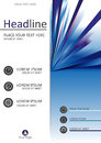 Report cover design. A4. Vector.