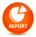 Report (graph icon) elegant orange round button