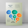 Report infographics presentation format A4 brochure layout pages