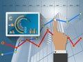 Report statistics concept