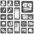 Reporter buttons set illustration of icons Stock Photography