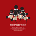 Reporter concept vector illustration eps Royalty Free Stock Photo