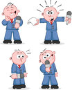 Reporter set vector cartoon four cartoons Stock Photos