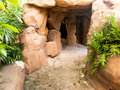 Reproduce cave created by hand by skilled craftsmen like the real building with cement Royalty Free Stock Photography