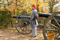 Reproduction civil war cannon 6 Royalty Free Stock Photo