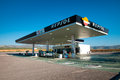 Repsol gas station april guadix spain filling with small shop and parking area Stock Image
