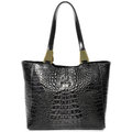 Reptile Embossed Leather Bag. Royalty Free Stock Photo