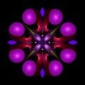 Reptilian whirligig spiral mandala Royalty Free Stock Photography