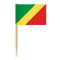 Republic of the Congo flag. Flag toothpick on white background 1