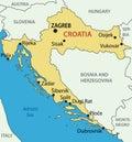 Republic of Croatia - vector map Royalty Free Stock Photo
