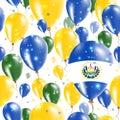 Republic of El Salvador Independence Day Seamless.
