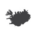 Republic of Iceland map silhouette